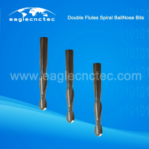 Ball Nose Double Flutes Upcut Spiral Router Bits For Sale