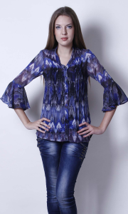 Pleated Georgette Shirt