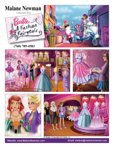 Colorist for Barbie A Fashion Fairytale Storybook