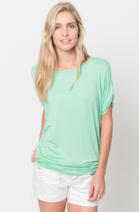 ruched short sleeve top