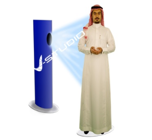 Virtual speaking mannequin