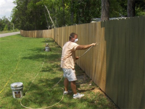 Fence and deck staining!