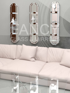 LÉA MIRRORED SHELVES