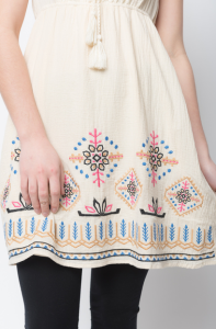 embroidered lace tunic- caralase