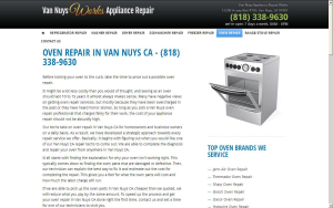 OVEN REPAIR IN VAN NUYS CA