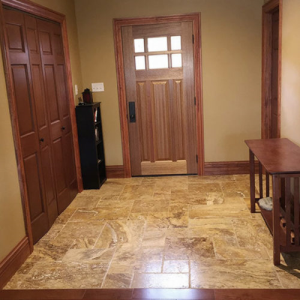 Pattern travertine tiles