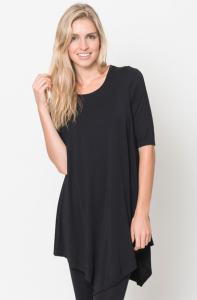 Quarter sleeve tops black for women on sale
