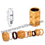 Industrial Brass E1W Cable Gland