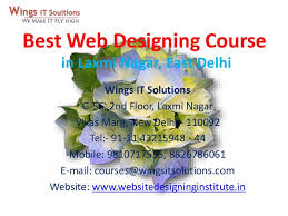 Web Designing Training Course in Laxmi Nagar, East Delhi, Delhi