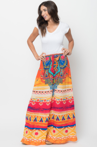 SOUTHWEST PRINTED FLARED SKIRT