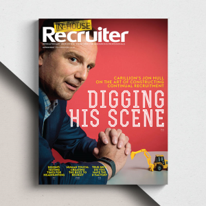 Cover design for In-House Recruiter magazine
