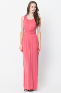 :tie back maxi dress