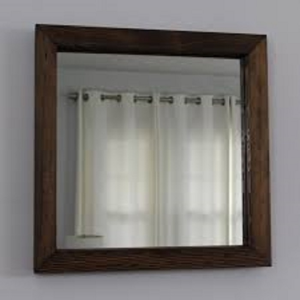 Rustic Reclaimed Wood Mirror Square