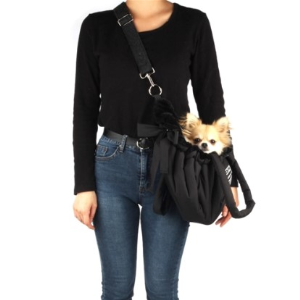 Cloudy Dog Carrier in Black : Posh Puppy Boutique