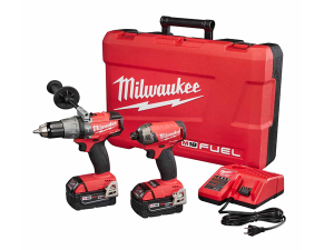 "cheap drills and power tools for sale Milwaukee 2899-22 M18 FUEL Hammer Drill and 1/4"" Hex SURGE"