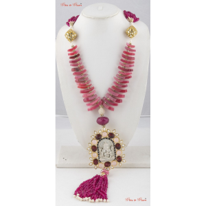 Necklaces with Girly shades of pink in two layered