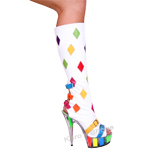 Knee High Multi Color Leather