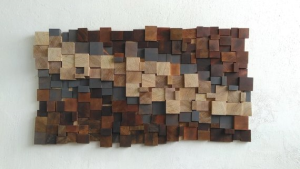 Wall wood art - Mosaic Pixel art