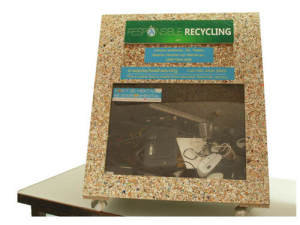 e-Waste Bins from Recycled Chipboard