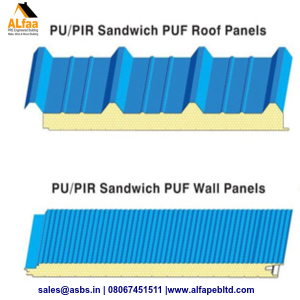 Sandwich PUF Roof Panels