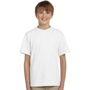 Gildan Kids White 100% Softstyle cotton T-Shirts