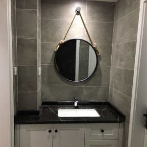 Simple Iron Wall-mount Bathroom Mirror