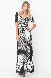 wrapped maxi dress