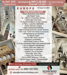 Europe Tour with Om Leisure Holidays