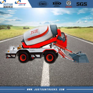 Self Loading Concrete Truck Mixer, 4 m3, 660L, Curb Weight 8500kg