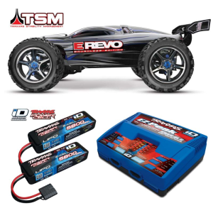 Traxxas 1/10 E-Revo Brushless 4WD RTR EZ-Peak Charger and Two Battery Combo TRA56087-3COM