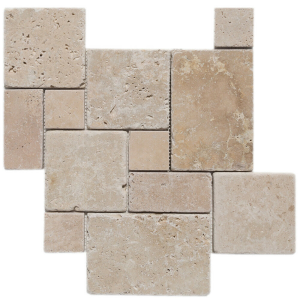 Travertine Mosaic Tile Classic Beige Pattern