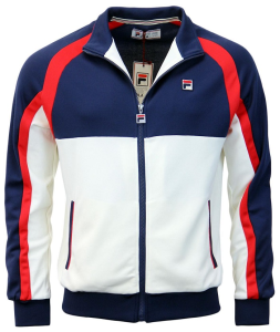 Fila-Men`S Heritage Tennis Jacket Navy And White