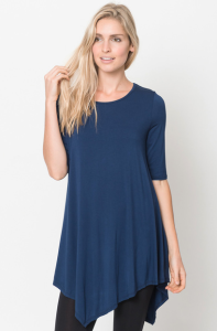 Quarter sleeve tops navy for women
