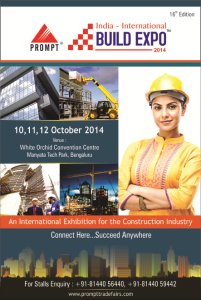 India International Build Expo 10,11 &12 Oct 2014