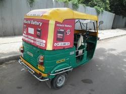 Auto Rickshaw Advertising with New Soft Top Hood