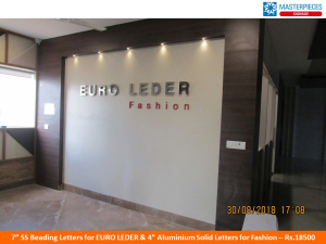 SS Beading Letters Sign for Euro Leder Fashion