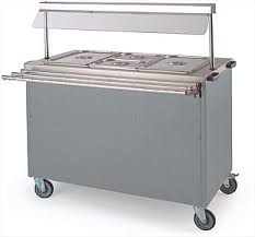bain marie counter with tray slide rail