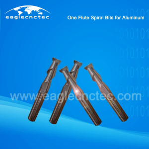 Aluminum Cutting Router Bits One Flute Spiral Bits For Aluminum