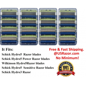 16 Schick Hydro5 Sensitive Razor Blades Refill Cartridges