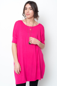 Buy online short sleeve ballet sleeve tunic for women on sale at caralase.com