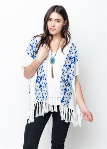 white poncho for women