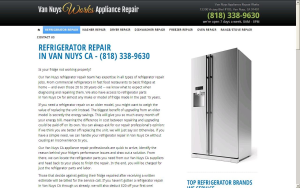 REFRIGERATOR REPAIR IN VAN NUYS CA