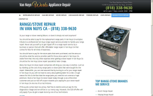 RANGE/STOVE REPAIR IN VAN NUYS CA