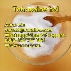 Tetracaine hcl powder,Tetracaine hcl price,Tetracaine HCL factory,sales2@aoksbio.com,Whatsapp/Signal