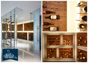 Large Contemporary Wine Cellar with Glass Walls