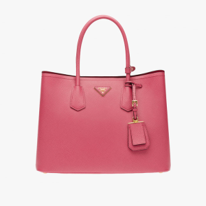 Prada 1BG756 Leather Tote In Rose
