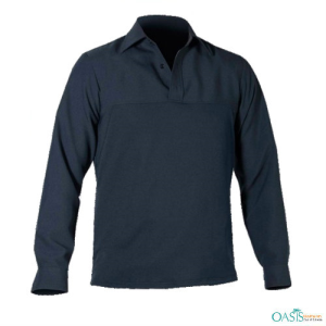 Black Long-Sleeve Polo Shirt