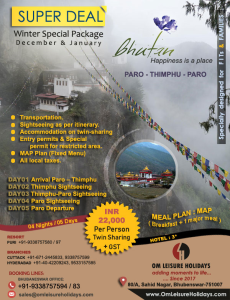 Bhutan-Super-Deal-Winter with Om Leisure Holidays