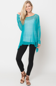asymmetrical tunic tops turquoise