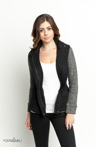 Buy online twill contrast two tone jacket for women on sale at caralase.com